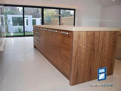 Made to measure wooden fitted kitchen units
