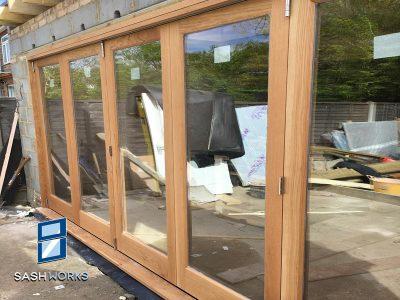 Wooden Bi-fold doors Enfield