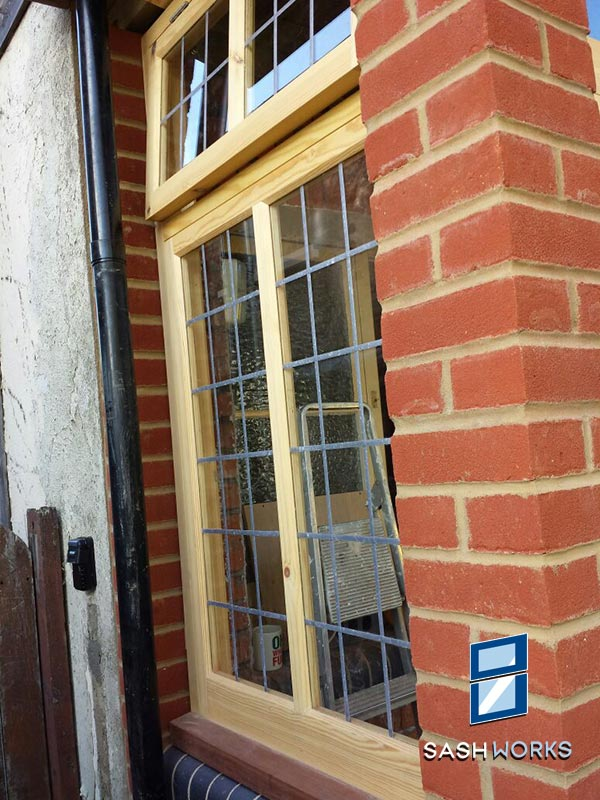Replacement leaded casement windows