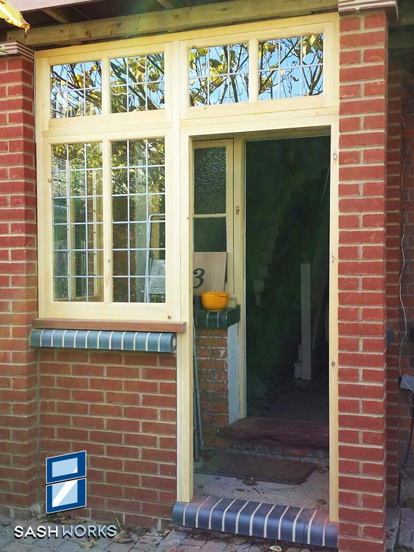 Wooden porch installation
