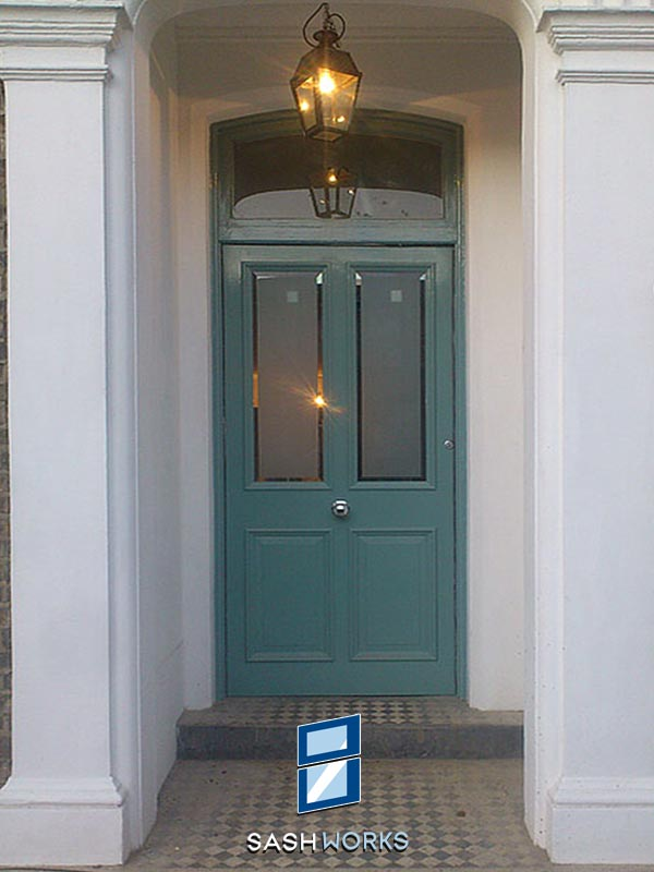 Replacement wooden and glazed front doors
