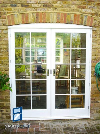 Replacement French door installation