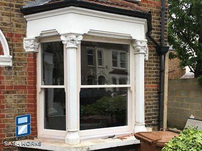 Victorian box sash window installation Enfield