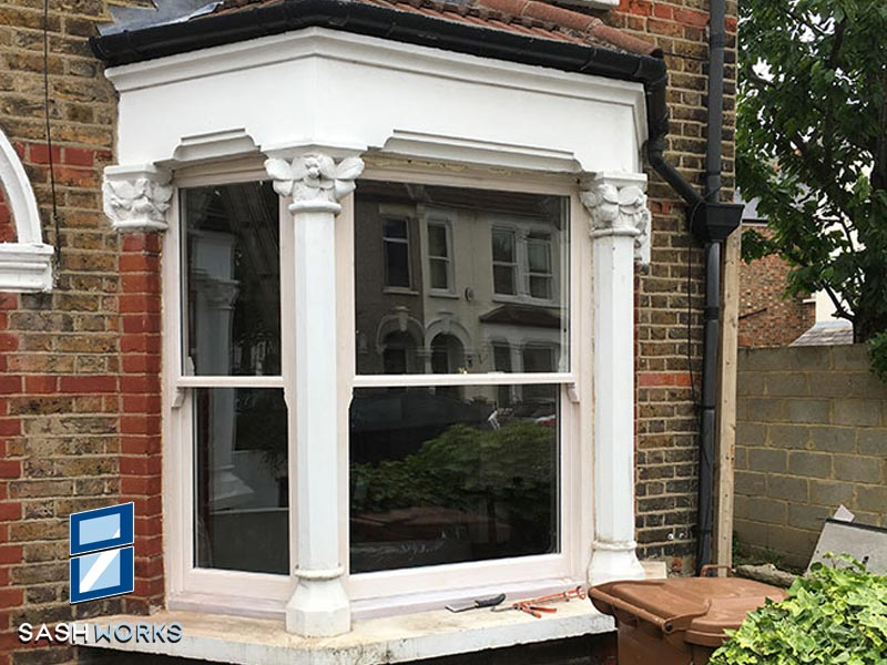 Victorian box sash window installation Enfield