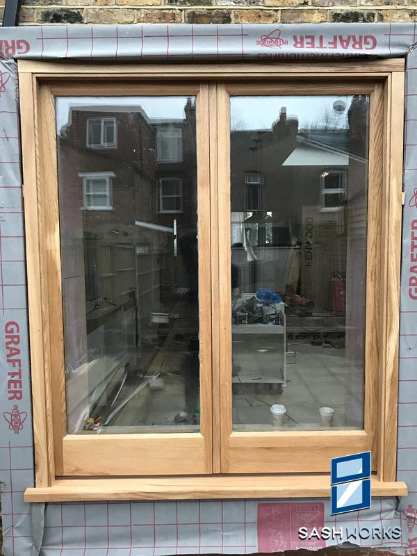 Replacement wooden casement window