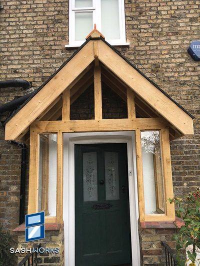 Wooden porch installation