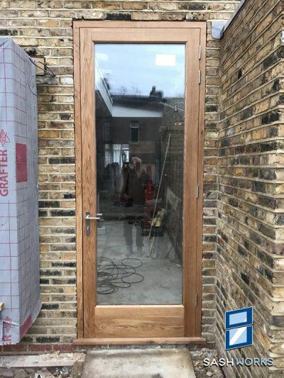Wood framed glazed doors