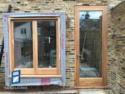 Replacement casement windows and doors.